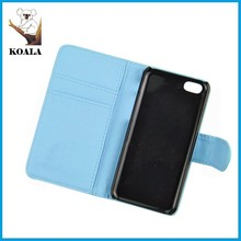 hot sell factory price high quality blue color leather /pu leather cell phone case