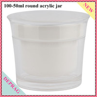 Cosmetics Packaging Containers Manufacturer.50g skin care sample packaging,100g skin moisturizer jar,50g white plastic jar