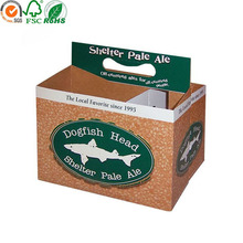 6 Packs popular style paper handle box for beer packaging