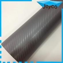 JEYCO 3D CARBON 1.52*30m/ 140um/ Grey High grade 3D carbon fiber vinyl, carbon 3D car wrap vinyl with air release drains