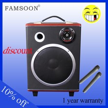 wooden mutifuctional sound system with amplifier