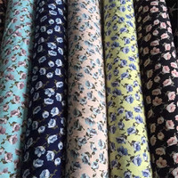 Printed flower 180gsm thickness 100% polyester printed crepe fabric for garment