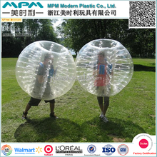 Walmart fournisseur gonflable bumper ball / corps zorbing bubble ball