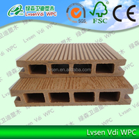 LSHD-03 135*25mm wpc decking prices/New Design Wood Plastic Composite WPC Flooring with Fluorescence