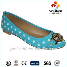 hangzhou yl8660 proveedor sexy azul polka dot zapatos