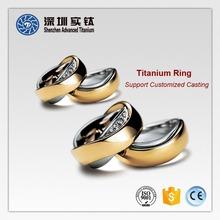 Hot sale titanium lastest gold finger men's silicone wedding ring designs casting forging factory