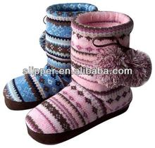 2015 popular cheap women knit boots