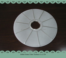 stainless steel round type leaf disc filter