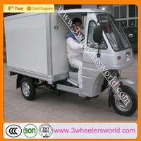 200cc Motorized Cargo Cabin Tricycle /Three Wheel Motorcycle for Cargo