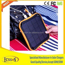 Window rohs solar cell phone charger 5600mah