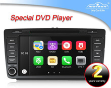 2 din touch screen car dvd player for skoda octavia with CE and ROHS certificates