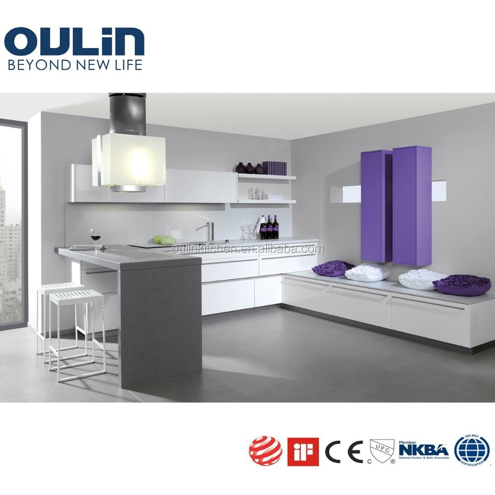 Showroom Romantic Fashion Color Matt Purple Kitchen Cabinets View Franchised Dealer Kitchen