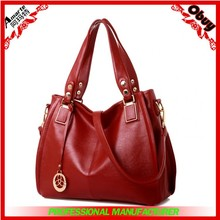 Top grade oiled leather fashion and contracted women handbags
