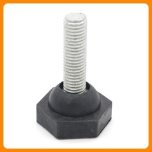 Furniture fitting adjustable leveling feet/furniture leveling feet for chairs/plastic furniture glides for chairs