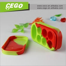 2015 Hot sales! silicone customized bho oil container, silicone cosmetic container, silicone containers small