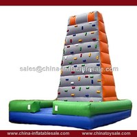 Portable inflatable rock climbing wall for commercial