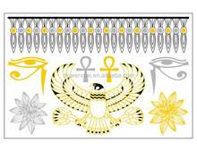 OEM tattoos temporary sticker gold bracelet metal tattoos jewelry