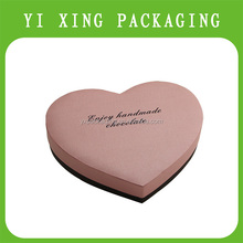 2015 Rigid paper coated paper heart pattern gift boxes,Nested rectangle chocolate packaging China payment