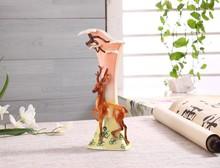Chinese Style Deer Pattern Ceramic Vase