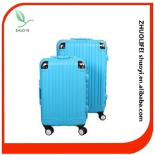 2 pc bright color light weight plastic hard shell travel luggage for women