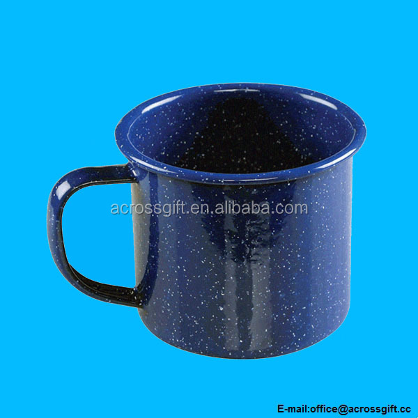 Wholesale 12 Ounce Enamelware Ceramic Coffee Mug Blue