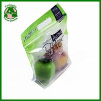 Printing slider ziplock fruit bag with air holes for grape packaging bag