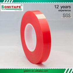 No-Residue UV Light Resistant Double Side Pet Tape With Release Paper On Two Side