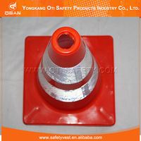 Red Reflective safety used traffic cones