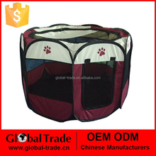 8 Sides Pet Playpen Dog Cat Rabbit Puppy Pig Play Pen Run New Dark Brown Soft Cages 450077