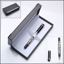Together Silver artwork fountain pen package in Plastic box for corporate gift set