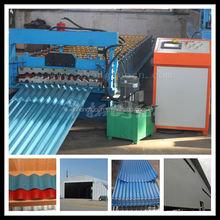 Ondulazione metallo usato pannello rullo del tetto che forma machine  foglio di plastica coperture ondulate