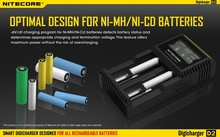 Nitecore D2 Controlled Intelligent Charger Li-ion NiMH Battery Charger Suitable 18650,26650,22650