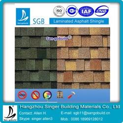 2015 New Plane layer And Laminated Asphalt roof Shingle/Bitumen Roofing Tile