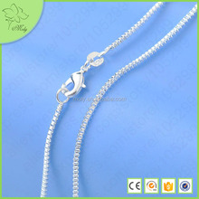 Fancy Simple Long Silver Chain Necklace 925 Sterling Siver DIY Chain