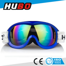 con estilo anti niebla ce de seguridad estándar de color de oro de la moda tpu marco gafas de esquí de