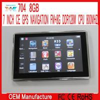 7 inch Gps navigation navigator Windows ce 6.0 FM ROM 8GB DDR128M FREE EUROPE USA UK FRANCE MAP