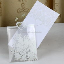 Most popular branded mirror etched metal wedding cards