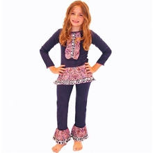 Wholesale baby clothing legging children clothes set ruffle dress clothing for the children