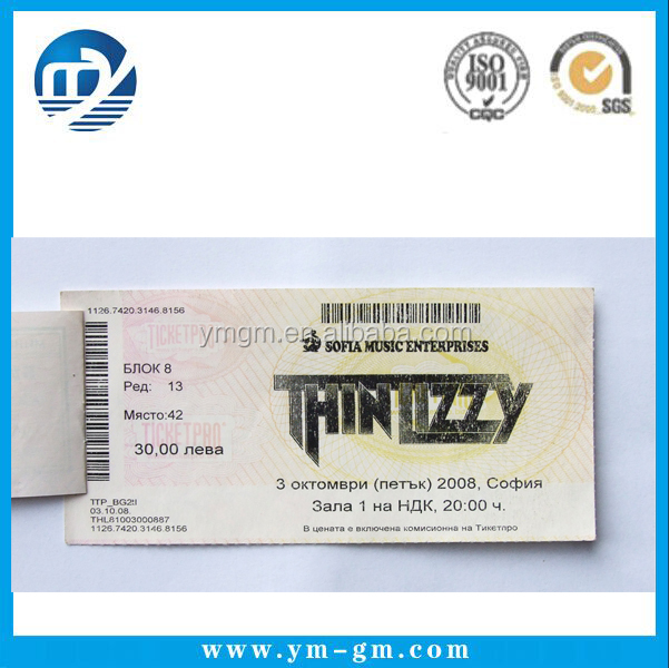 ticket printing paper tickets custom printed concert tickets buy