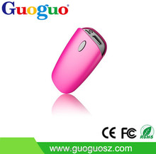 Guoguo 2015 hot sales LED flashlight 3600mAh power bank colorful slim portable cell phone charger