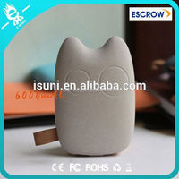 2015 Hot item stone totoro power bank 6000Mah best gift portable power bank for samsung galaxy tab