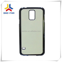 top quality sublimation phone case for samsung S5 with aluminum sheet,sublimation phone cover for S5 with metal sheet.