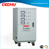 SDV-3-9000VA vertical three phase servo type meter display high accuracy full automatic AC voltage regulator/stabilizer