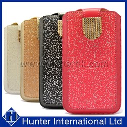 Luxury Diamond Clasp Pull Up Pouch For Samsung N7100
