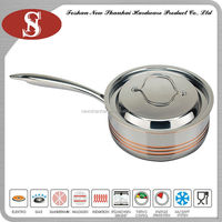 High quality 5ply colour frying pan