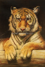 handmade tiger oil painting on canvas for bedroom