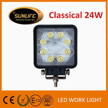 Hot selling square Car Accessories led working light 4inch 24w led work light for offroad vehicles