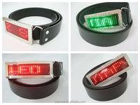 2015 Scrolling Message rechargeable rhinestone designer pink led belt buckles