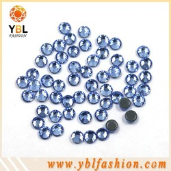 Shining ss4-ss34 MC blue rhinestone hot fix for garment accessories