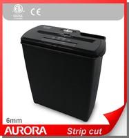 Aurora AS810SD Plastic Paper Shredder, 8 sheet (A4) strip cut 6 mm, Light Duty Shreding Office equipment for Home & Office